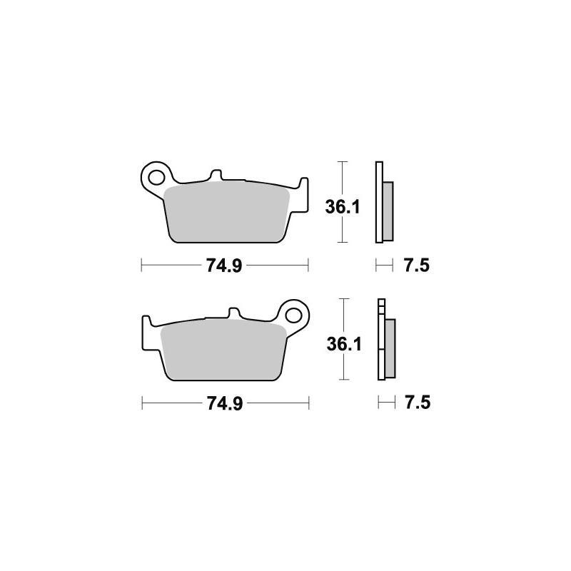 Plaquettes de frein SBS carbone tech 116CT