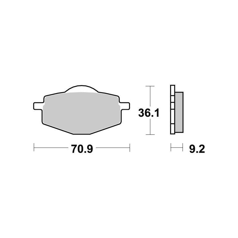 Plaquettes de frein SBS céramique 107HF
