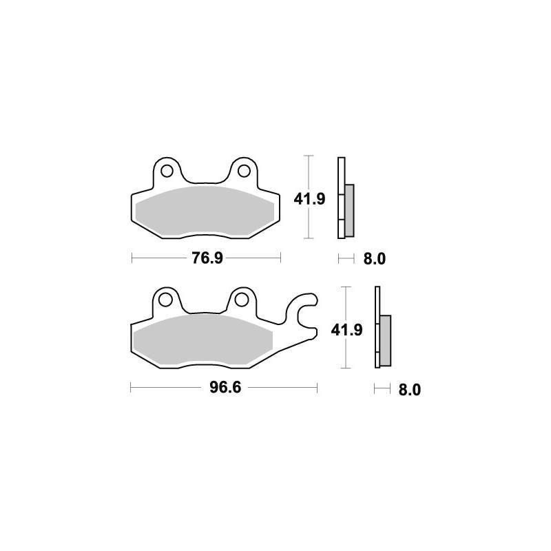 Plaquettes de frein SBS céramique 134HF