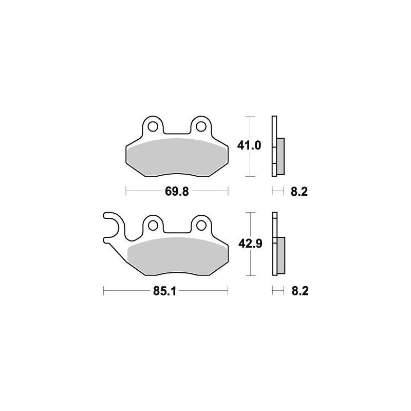 Plaquettes de frein SBS céramique 140HF