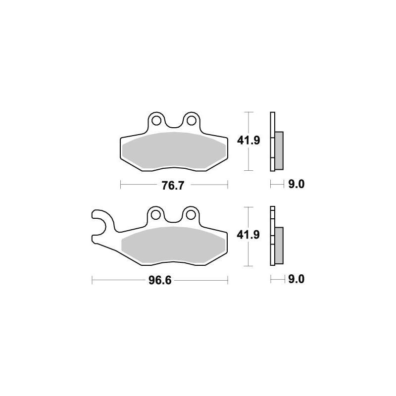 Plaquettes de frein SBS céramique 177HF