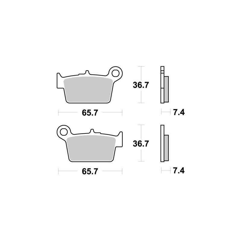 Plaquettes de frein SBS céramique 199HF