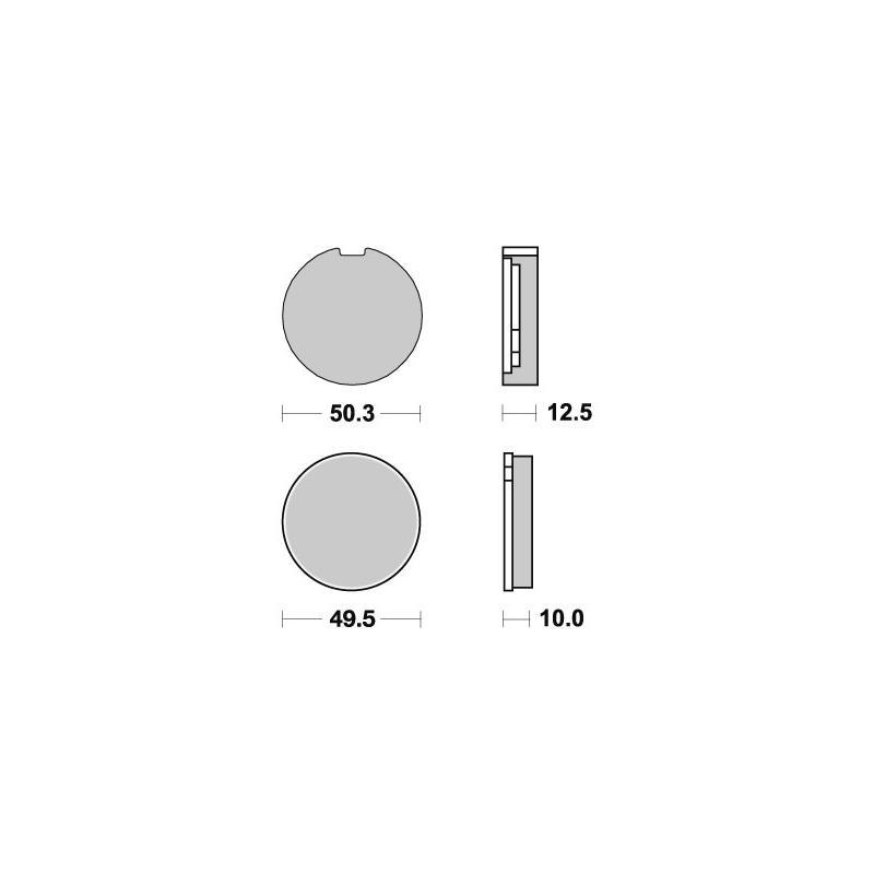Plaquettes de frein SBS céramique 503HF