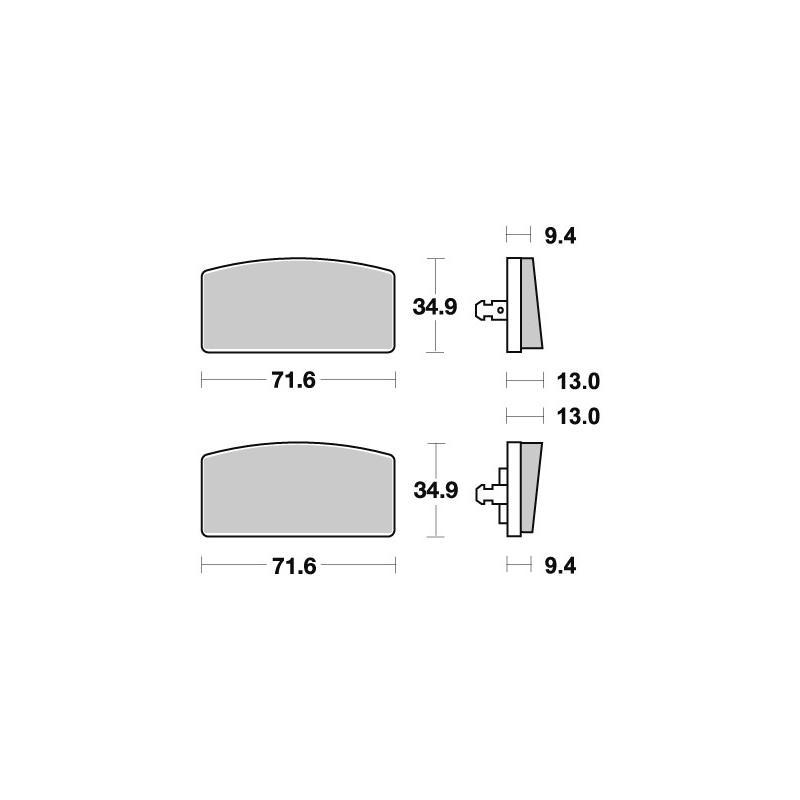 Plaquettes de frein SBS céramique 520HF