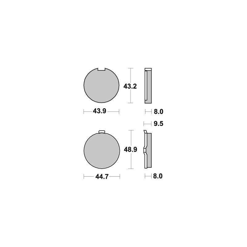 Plaquettes de frein SBS céramique 524HF