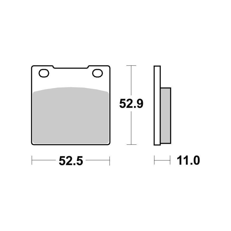 Plaquettes de frein SBS céramique 526HF