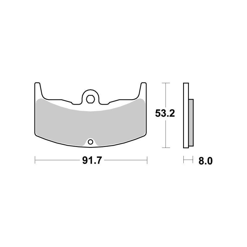 Plaquettes de frein SBS céramique 552HF