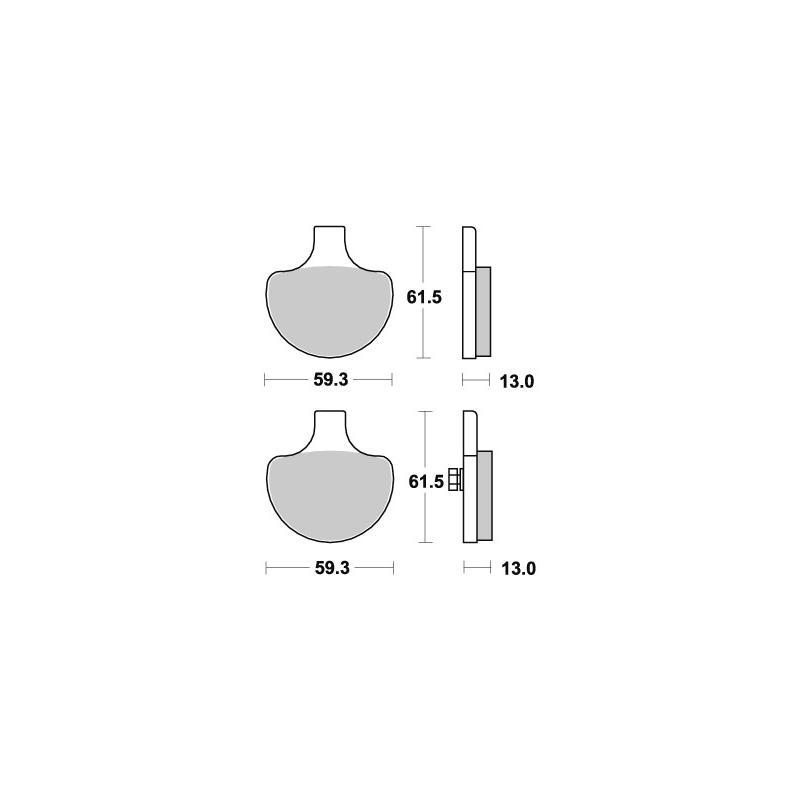 Plaquettes de frein SBS céramique 579H.HF