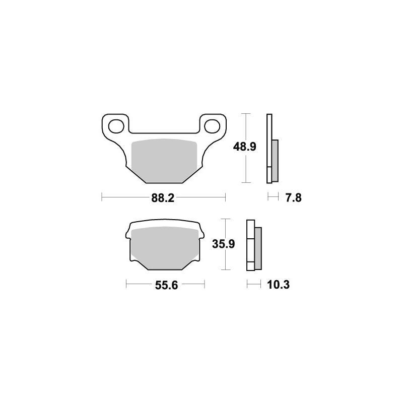 Plaquettes de frein SBS céramique 585HF