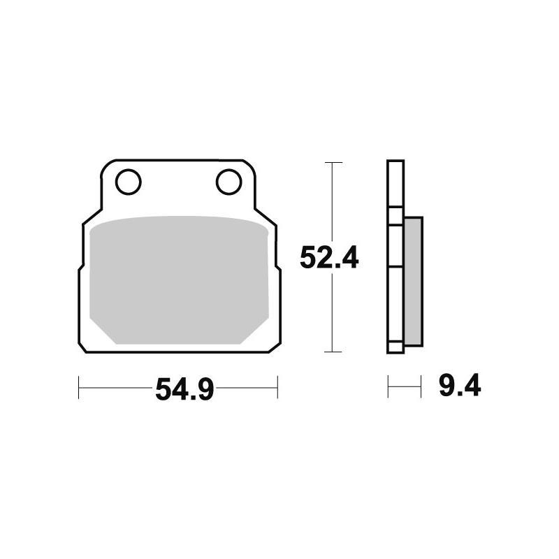 Plaquettes de frein SBS céramique 598HF