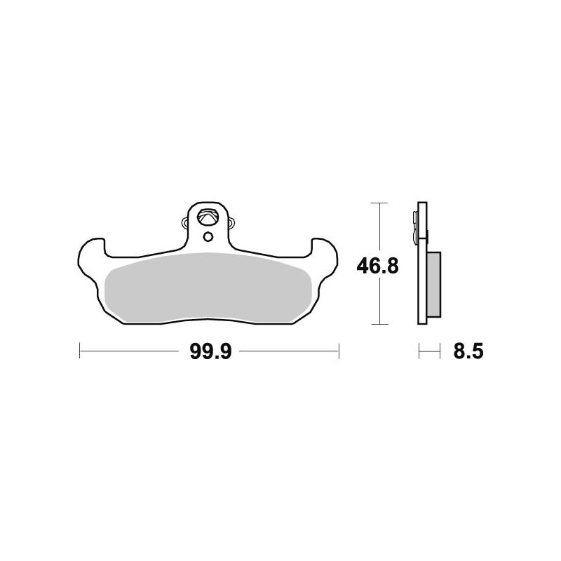 Plaquettes de frein SBS céramique 608HF