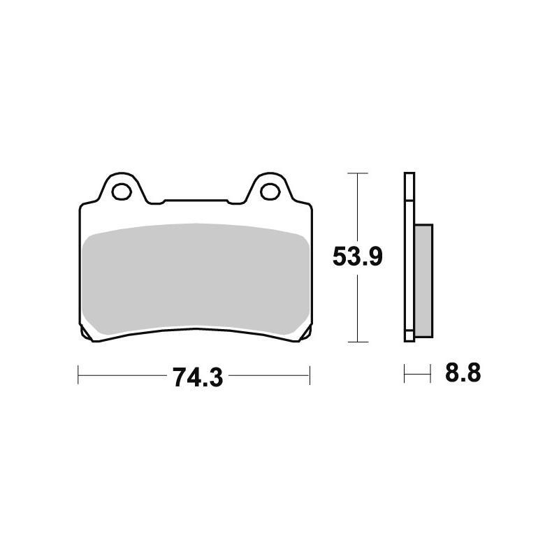 Plaquettes de frein SBS céramique 613HF