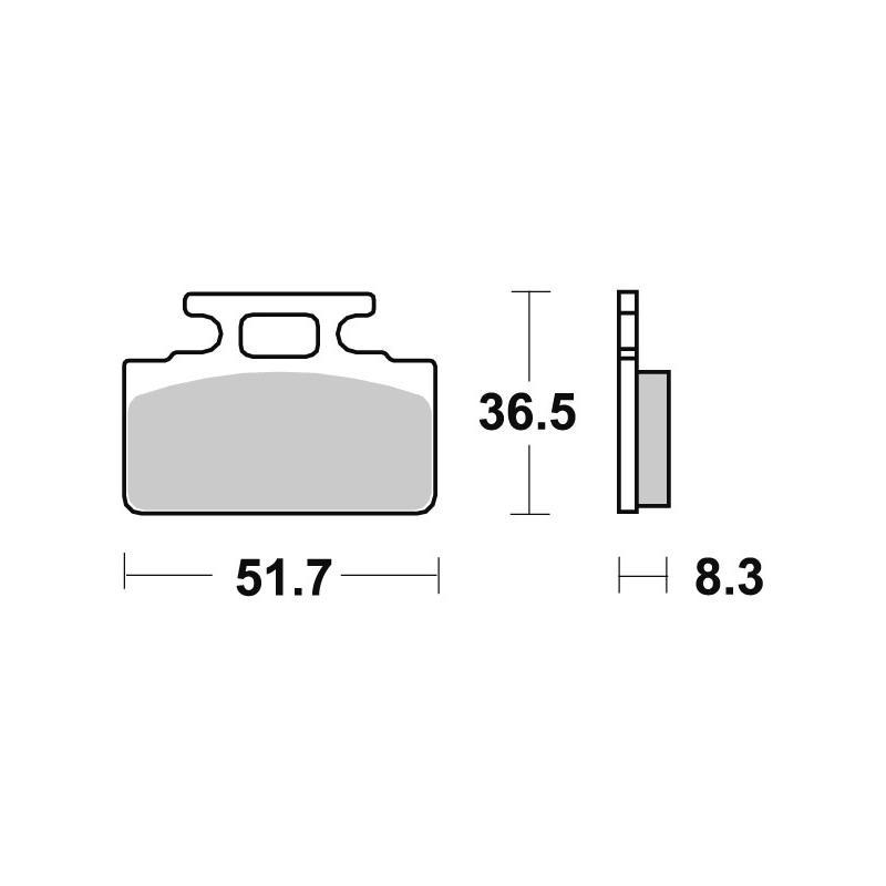 Plaquettes de frein SBS céramique 618HF