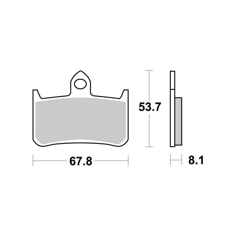 Plaquettes de frein SBS céramique 622HF