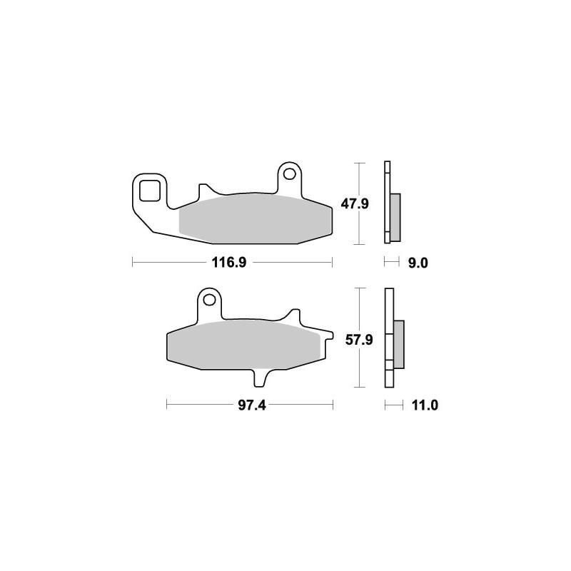 Plaquettes de frein SBS céramique 626HF