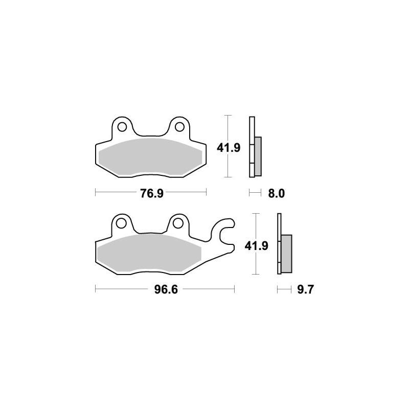 Plaquettes de frein SBS céramique 633HF