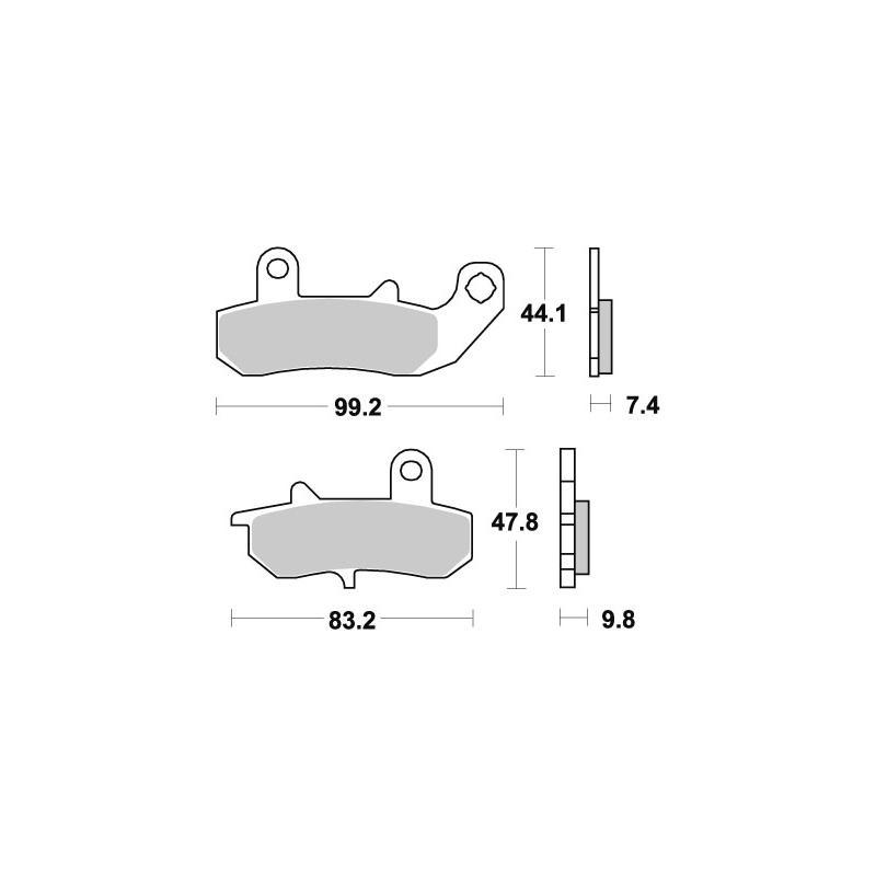 Plaquettes de frein SBS céramique 635HF
