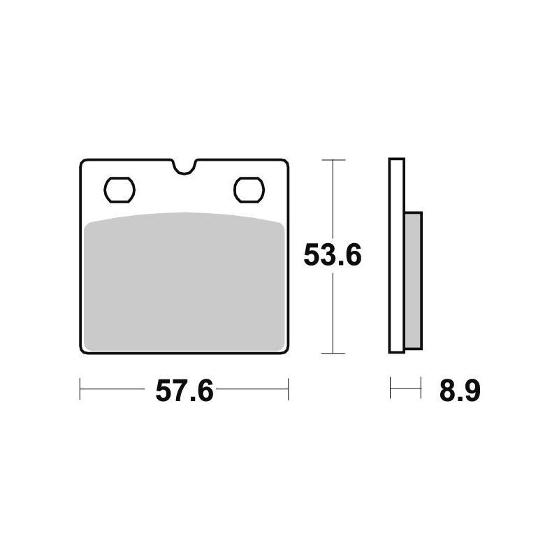 Plaquettes de frein SBS céramique 640HF