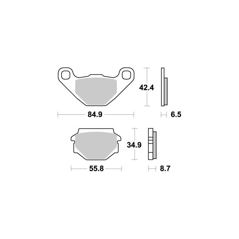Plaquettes de frein SBS céramique 651HF