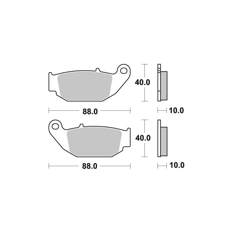 Plaquettes de frein SBS céramique 915HF