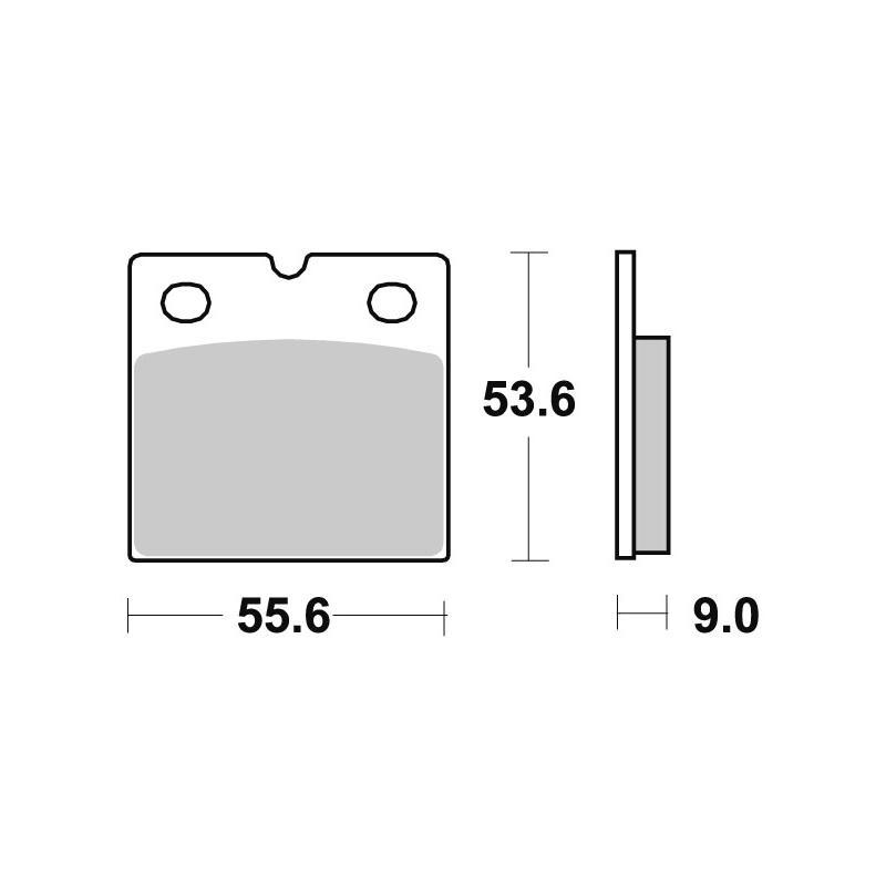 Plaquettes de frein SBS métal fritté 506HS