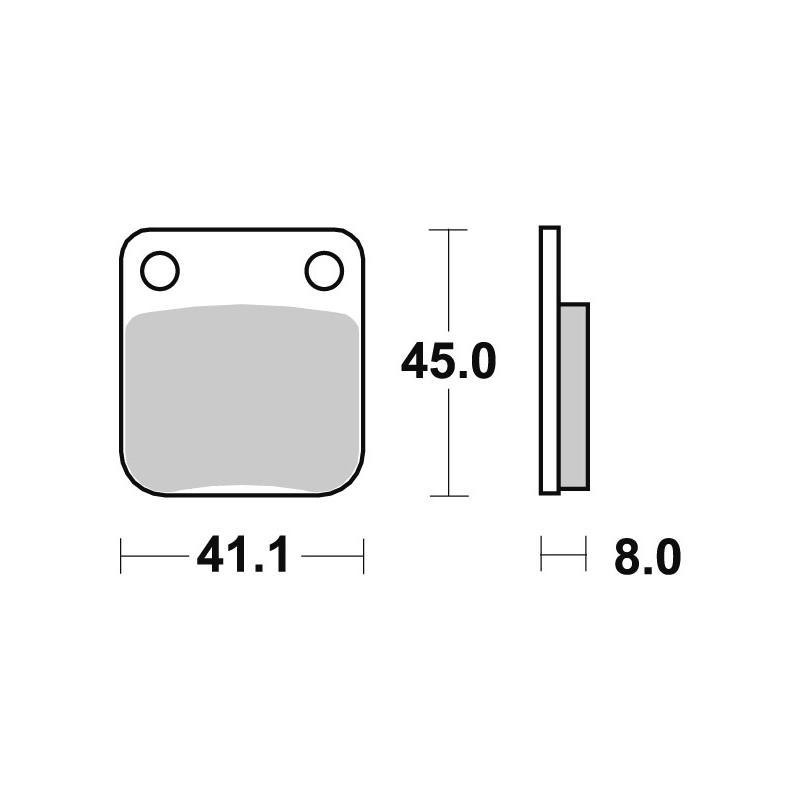 Plaquettes de frein SBS métal fritté 536SI