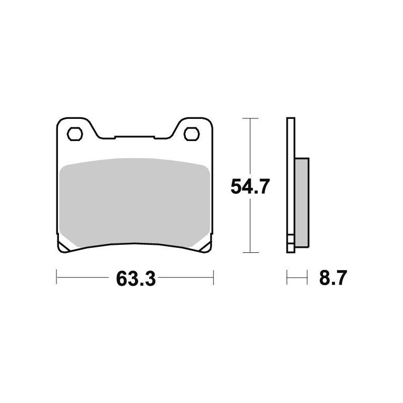 Plaquettes de frein SBS métal fritté 555LS