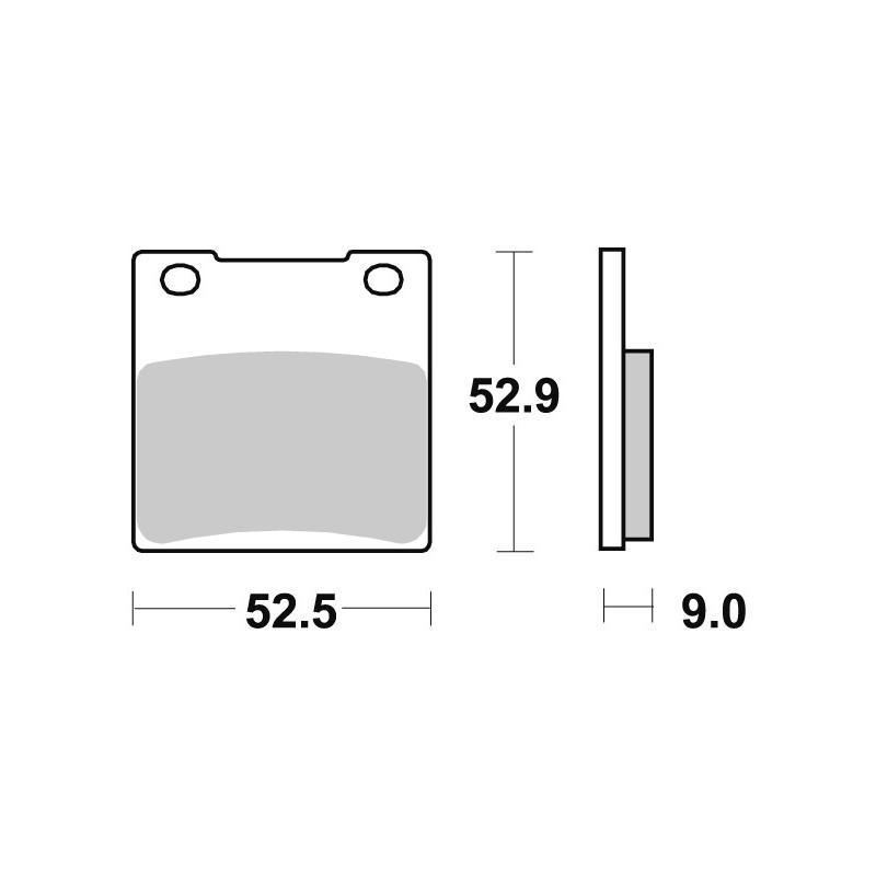 Plaquettes de frein SBS métal fritté 556LS