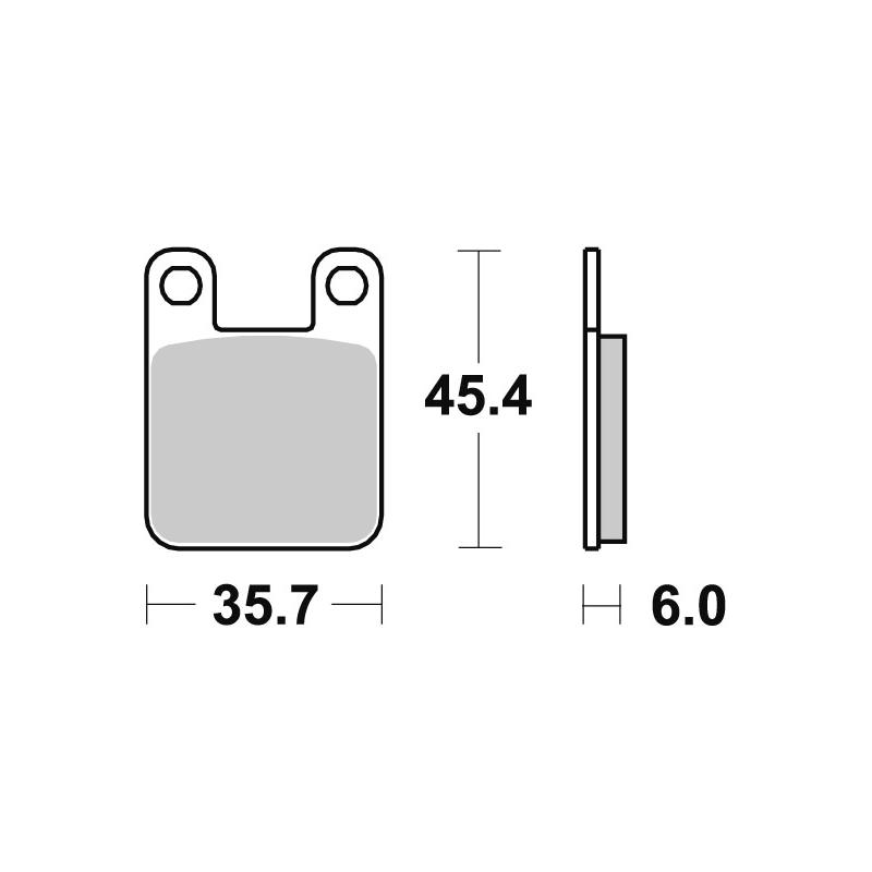 Plaquettes de frein SBS métal fritté 559SI
