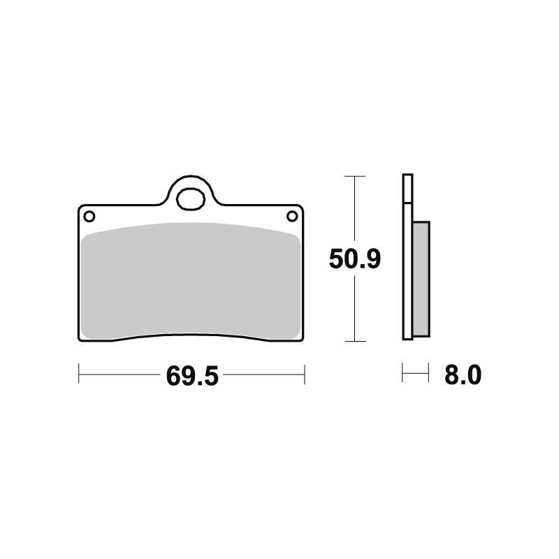 Plaquettes de frein SBS métal fritté 566RSI