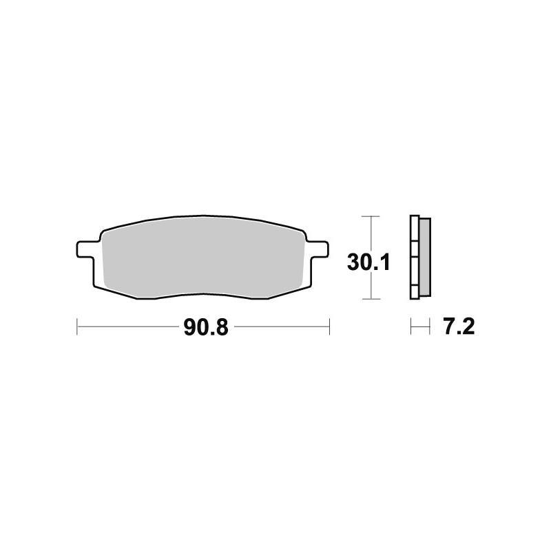 Plaquettes de frein SBS métal fritté 580SI