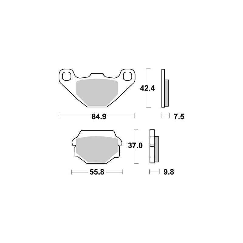 Plaquettes de frein SBS métal fritté 586SI