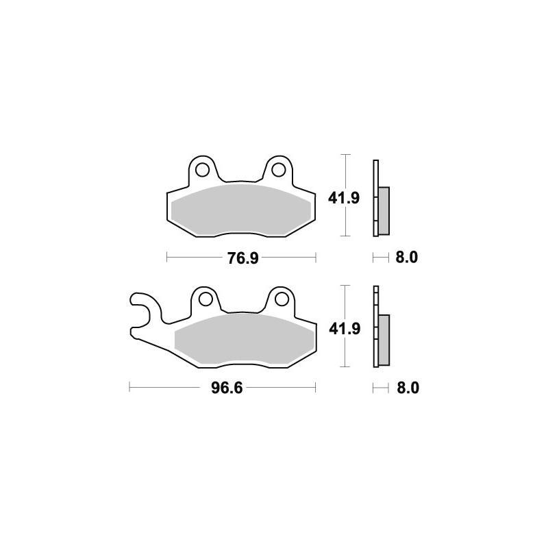 Plaquettes de frein SBS métal fritté 611HS