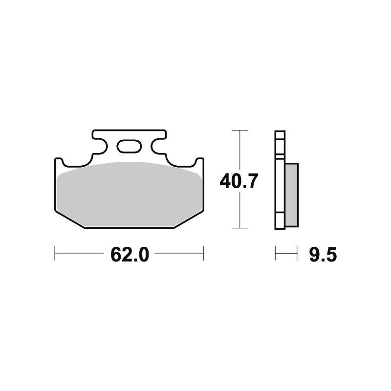 Plaquettes de frein SBS métal fritté 648RSI