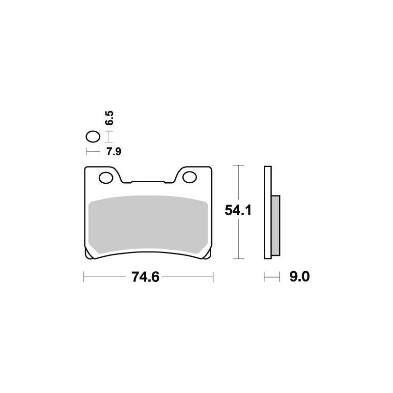 Plaquettes de frein SBS métal fritté 665RS