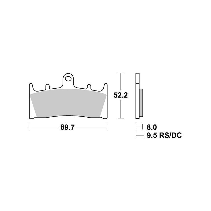 Plaquettes de frein SBS métal fritté 686RS
