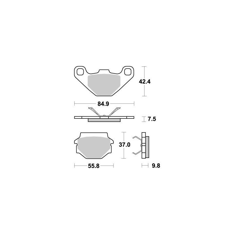 Plaquettes de frein SBS métal fritté 692RSI