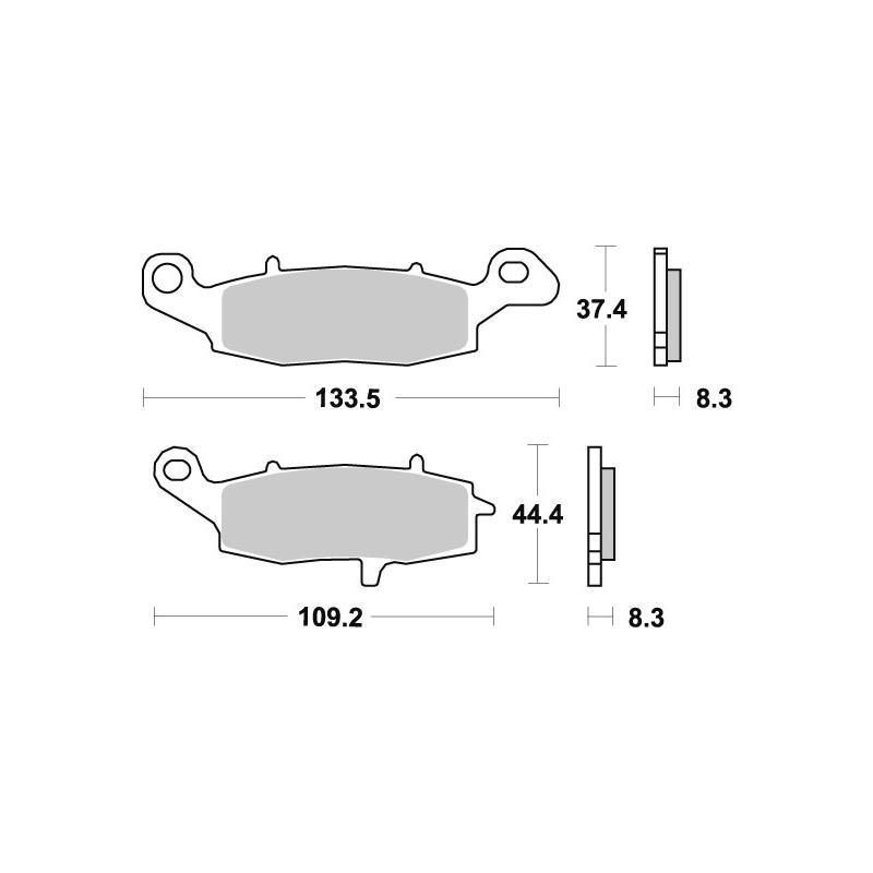Plaquettes de frein SBS métal fritté 705RS