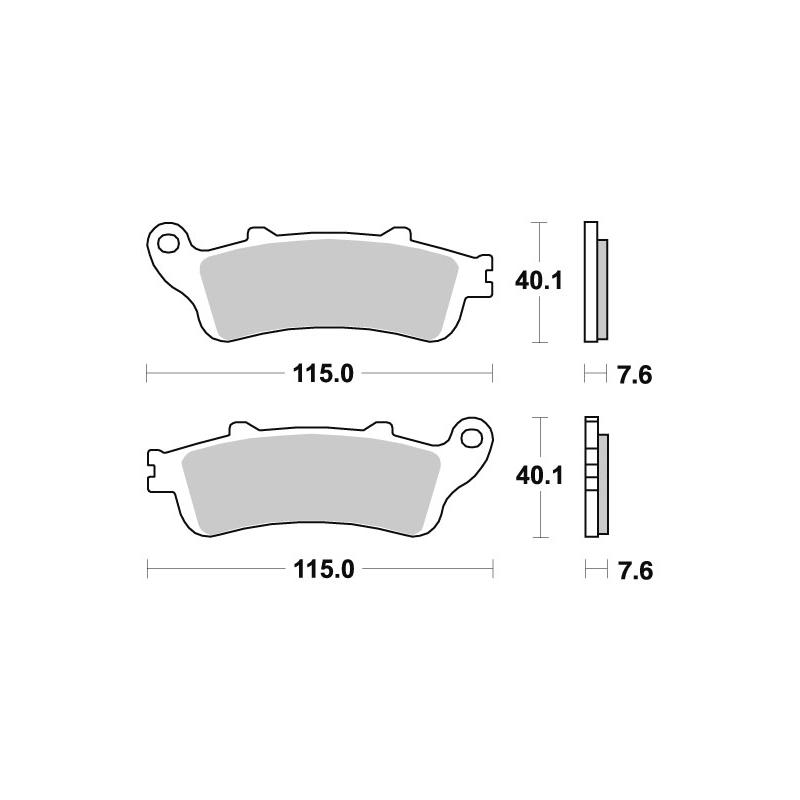 Plaquettes de frein SBS métal fritté 721HS pour Honda ST 1100 ABS 96-01
