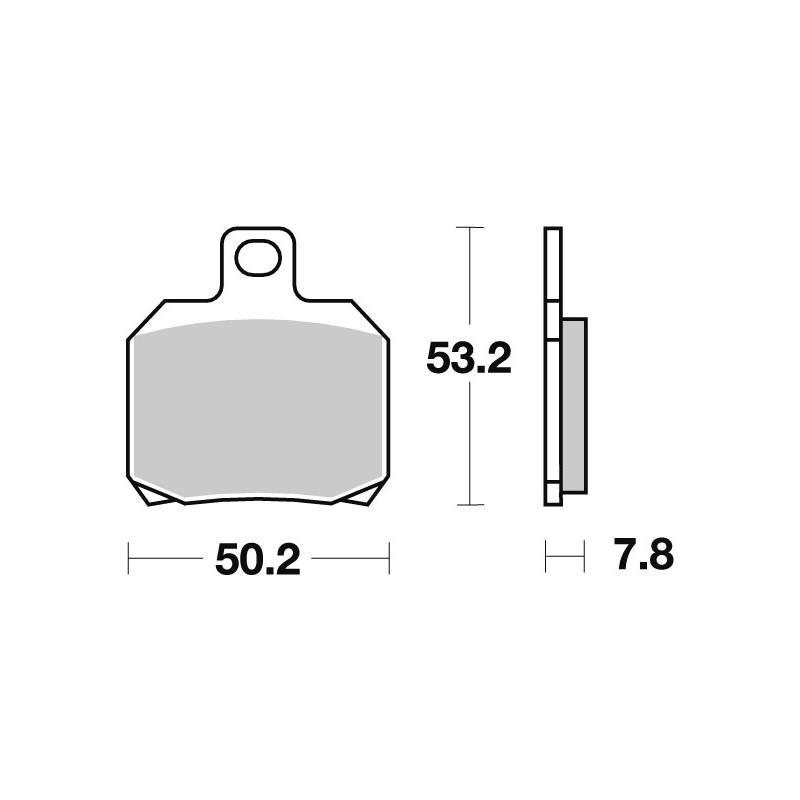 Plaquettes de frein SBS métal fritté 730LS