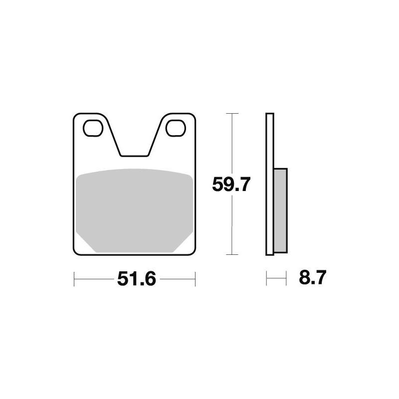 Plaquettes de frein SBS métal fritté 733LS