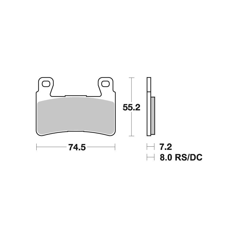 Plaquettes de frein SBS métal fritté 734RS