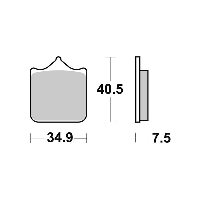 Plaquettes de frein SBS métal fritté 762RS