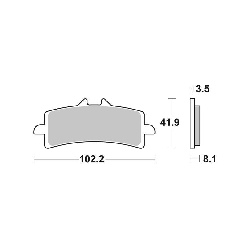 Plaquettes de frein SBS métal fritté 841RS