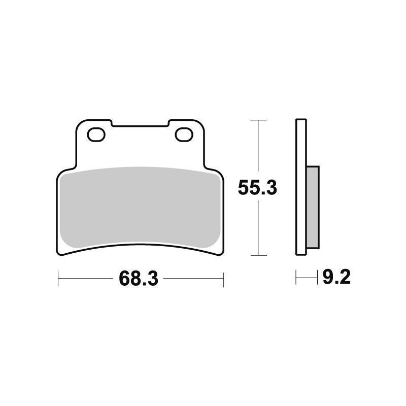 Plaquettes de frein SBS métal fritté 844HS