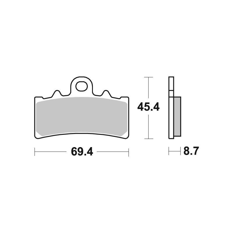Plaquettes de frein SBS métal fritté 877HS