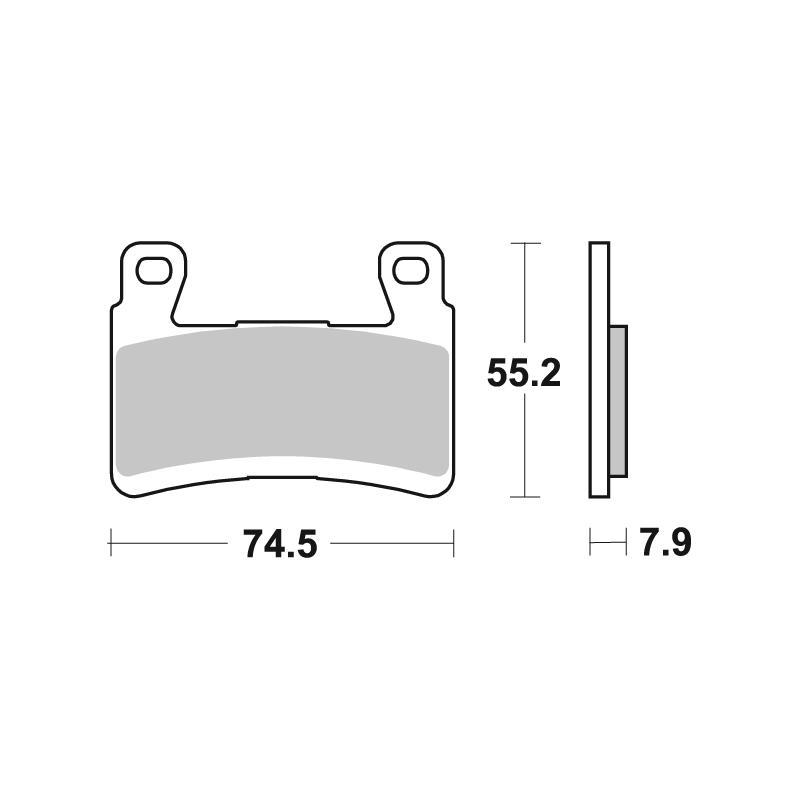 Plaquettes de frein SBS métal fritté 894HS