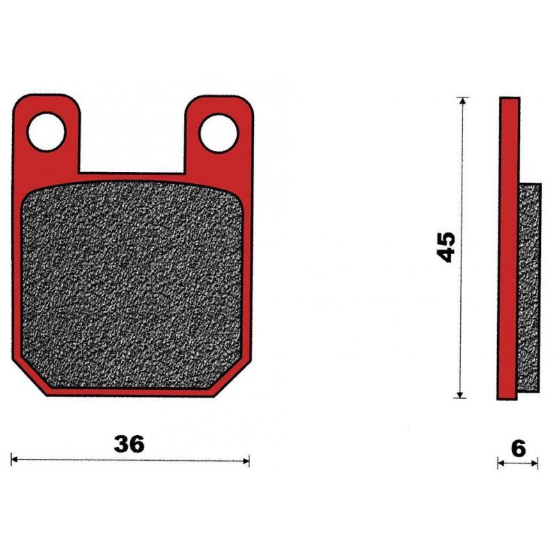 Plaquettes de frein T4Tune MBK X-Limit/Senda X-Treme