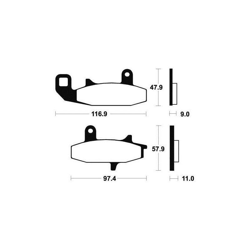 Plaquettes de frein Tecnium MA126 organique