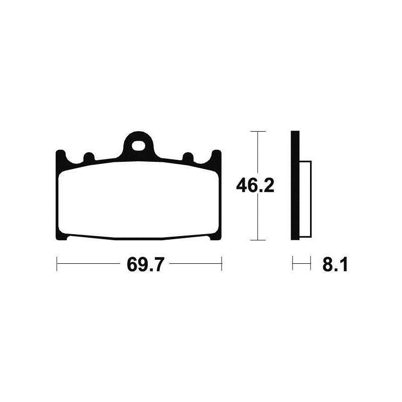 Plaquettes de frein Tecnium MA131 organique